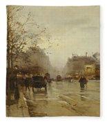 Les Boulevards Paris Fleece Blanket