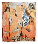 Les Demoiselles D'avignon Picasso Fleece Blanket