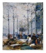 Les Halles Paris Fleece Blanket