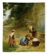 Les Jeunes Jardiniers Fleece Blanket
