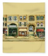 Les Rues De Paris Fleece Blanket