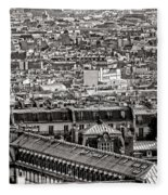 Les Toits De Paris Fleece Blanket