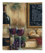 Les Vins Fleece Blanket