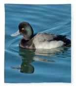 Lesser Scaup Male Swimming Fleece Blanket