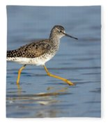 Lesser Yellowlegs Fleece Blanket