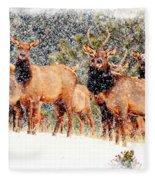 Let It Snow - Barbara Chichester Fleece Blanket
