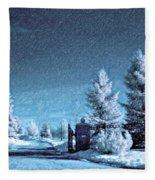 Let It Snow Blue Version Fleece Blanket