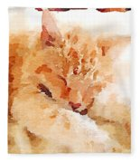 Let Sleeping Cats  Fleece Blanket