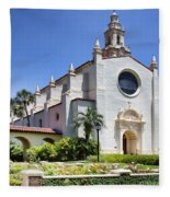Let There Be Light Knowles Memorial Chapel 1 By Diana Sainz Fleece Blanket