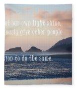 Let Your Light Shine Fleece Blanket