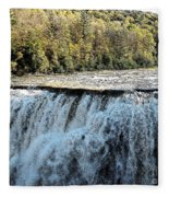 Letchworth State Park Middle Falls In Autumn Fleece Blanket