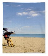 Let's Go Fly A Kite Fleece Blanket