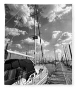 Let's Go Sailing Fleece Blanket