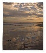 Let's Walk This Evening Fleece Blanket