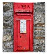 Victorian Red Letter Box Fleece Blanket