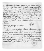 Letter To Voltaire From King Frederick Fleece Blanket