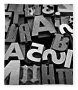 Letters And Numbers 1 Fleece Blanket