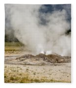 Letting Off Steam - Yellowstone Fleece Blanket