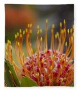 Leucospermum Pincushion Protea - Tropical Sunburst Fleece Blanket