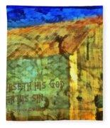 Leviticus 24 15 Fleece Blanket