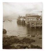 Lewis Fish Market Selected Fresh Fish And Swains Fish Market Monterey 1929 Fleece Blanket