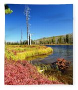 Lewis River Fall Fleece Blanket