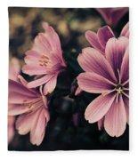 Lewisia Flowers - 7 Fleece Blanket