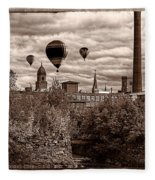 Lewiston Maine Hot Air Balloons Fleece Blanket