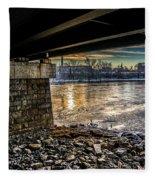 Lewiston Under The Bridge Fleece Blanket