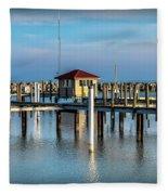 Lexington Harbor With No Boats Fleece Blanket