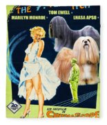 Lhasa Apso Art - The Seven Year Itch Movie Poster Fleece Blanket