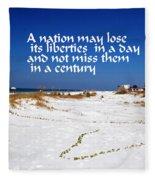 Liberties Fleece Blanket
