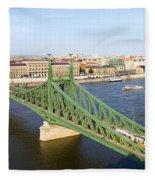 Liberty Bridge And Budapest Skyline Fleece Blanket