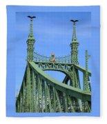 Liberty Bridge Budapest Fleece Blanket