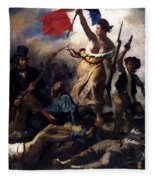 Liberty Leading The People During The French Revolution Fleece Blanket