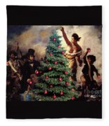 Liberty Places Star On The Tree Fleece Blanket