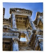 Library Of Celsus Fleece Blanket