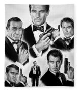 Licence To Kill  Bw Fleece Blanket