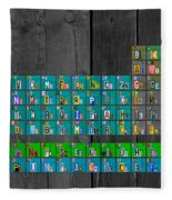 License Plate Art Recycled Periodic Table Of The Elements By Design Turnpike Fleece Blanket