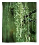 Lichen Hangs From A Tree  Corvallis Fleece Blanket