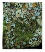 Lichen On Rock In Suck Creek Fleece Blanket