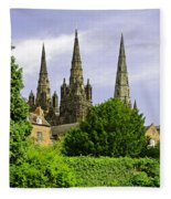Lichfield Cathedral From The Garden Fleece Blanket