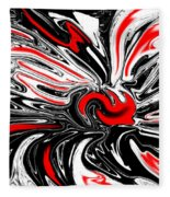 Licorice With Red Cherry Fleece Blanket