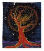 Life Blood Tree By Jrr Fleece Blanket