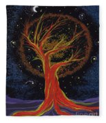 Life Blood Tree By Jrr Fleece Blanket