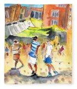 Life In Cartagena 01 Fleece Blanket