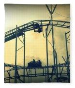 Life Is A Rollercoaster Fleece Blanket