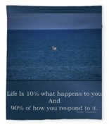 Life Is Soaring Solo Sometimes Fleece Blanket
