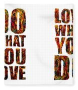 Life Love Acrylic Palette Knife  Fleece Blanket