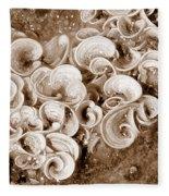 Life On The Rocks In Sepia Fleece Blanket